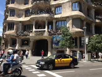 Gaudi View - on the streets of Barcelona