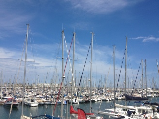 Boote in Barcelona