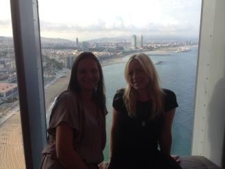 Aussicht vom höchsten Hotel der Stadt