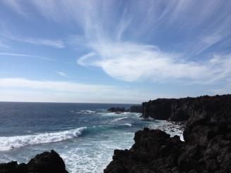 Aussicht Los Hervideros Lanzarote - Praktikum Ales Consulting International