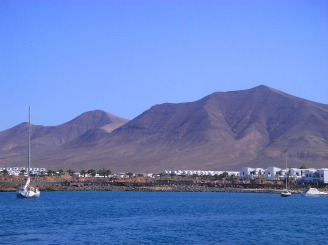 Blick auf Playa Blanca - Bootsausflug Erfahrung