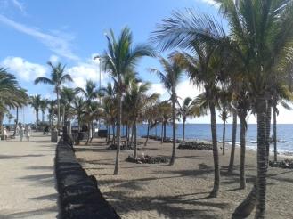 Spaziergang an der Promenade Puerto del Carmen Praktikum Lanzarote