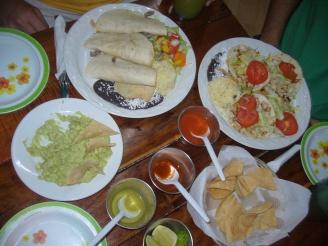 Typisch Mexikanisch Essen im besten Restaurant von Playa del Carmen