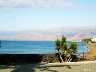 Blick auf den Strand Puerto del Carmen Lanzarote
