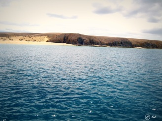 Blick vom Boot Lanzarote
