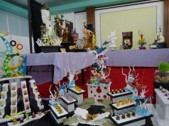 Ausstellung Kunstwerke aus Zucker der Köche von Luxushotels auf den Malediven