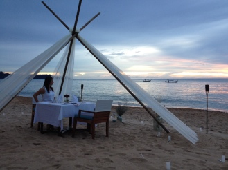 Romantic Dinner am Meer Thailand