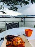 Seafood essen am Hafen Langkawi Kuah