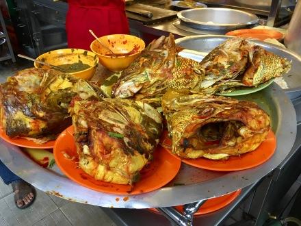 Streetfood Penang Malaysia - Fischköpfe