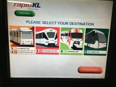 Möglichkeiten öffentliche Verkehrsmittel KL Kuala Lumpur