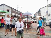 Mein lustiger Rikscha Fahrer Penang Georgetown Malaysia