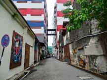 Wandmalerei Unesco Weltkulturerbe-Status Penang George Town Malaysia Praktikanten auf Tour