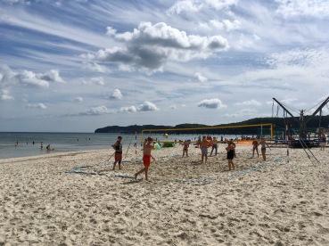 Beachvolleyball Insel Rügen Ostsee Hotelpraktikum Ales Consulting International