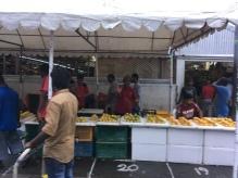 Malediven lokale Papaya