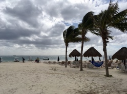Strandzugang Puerto Morelos Mexiko