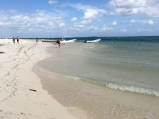 Riviera Maya Mexiko Strandspaziergang mit Studenten