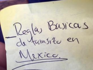 Verkehrsregeln in Mexiko - Reglas basicas de transito en Mexico