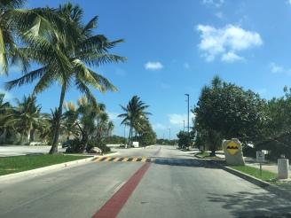 Verkehrszeichen Geschwindigkeitsstopper Mexiko