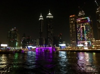 Dubai bei Nacht / Bootstour Ales Consulting International
