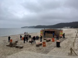 Feuer am Strand Binz auf Rügen