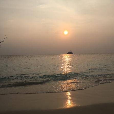 Sonnenuntergang Malediven Erfahrung