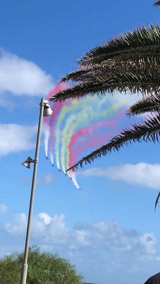 Militär Flugshow Kanaren