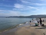Sandburgenbauen und Baden im Herbst auf Insel Rügen - Erfahrungen