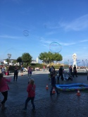 Aktivitäten im Zentrum von Binz auf Rügen im Herbst