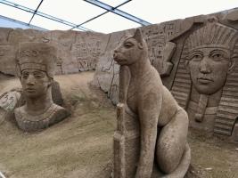 Reise nach Ägypten? Kunstwerke Sandskulpturenfestival Binz auf Rügen