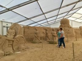 Gut besucht - Sandskulpturenfestival Ostseeinsel Rügen