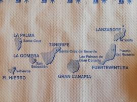 Map Kanarische Inseln