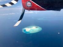 Meine Praktikumsinsel vom Wasserflugzeug aus
